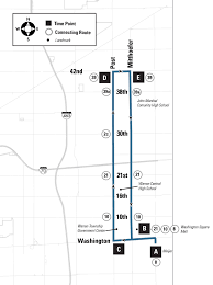 Washington Square Mall Map 87 Eastside Circulator Indygo