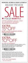 holiday coupon index of coupons