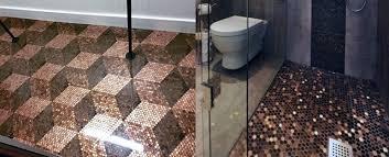 bathroom floor design ideas top 60 best floor design ideas copper coin flooring