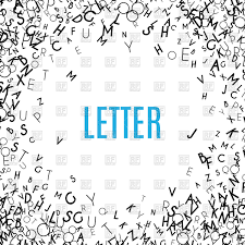 abstract black alphabet ornament frame vector clipart image