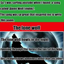 Lone Wolf Meme - the lone wolf by pitchblack meme center