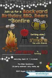 Backyard Birthday Party Invitations by Backyard Bonfire Birthday Invitation Bbq Birthday Invitation