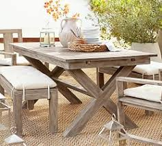 Drop Leaf Patio Table Outdoor Dining Tables Pottery Barn