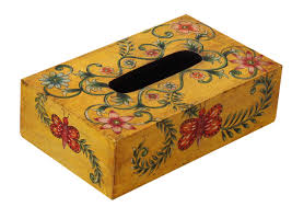 wholesale wooden tissue kleenex box cover holder hand painted in