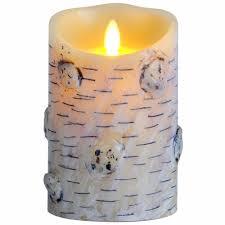 promotion luminara real wax birch bark effect flameless