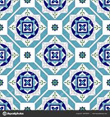 tile pattern vector with diagonal ornaments portuguese azulejo