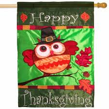 thanksgiving house flags happy thanksgiving owl house flag thanksgiving house flags