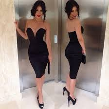 dress vue boutique sweetheart neckline all black everything