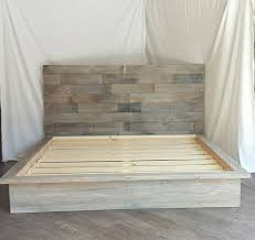 Plans For Platform Bed With Headboard by Best 25 King Size Platform Bed Ideas On Pinterest Queen