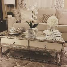 silver mirrored coffee table elosie mirrored coffee good mirrored coffee table wall decoration