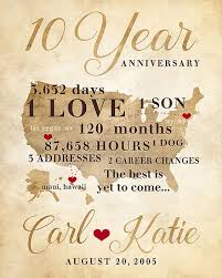 10 year anniversary present wedding anniversary gifts 20th year lading for