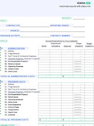 conference report template a organized financial status report template free