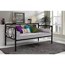 Futon Sofa Frame Metal Day Bed Twin Size Bedroom Guest Furniture Kids Dorm Couch