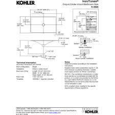 Kohler K 6625 by Kohler K 2826 0 Iron Tones White Drop In Or Undermount Single