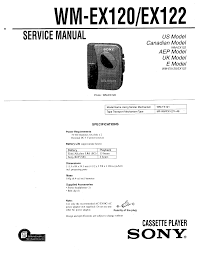sony wm ex122 service manual immediate download