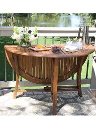 eucalyptus wood dining table round folding table 48 eucalyptus wood gardeners com stuff