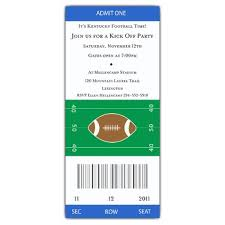 Football Ticket Template free printable football invitation templates football ticket