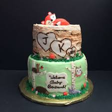 baby woodland creatures shower cake my cakes pinterest