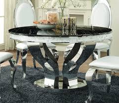 dining table 107891 coaster w chrome base options anchorage dining table 107891 coaster w chrome base options