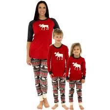 family clothing elk printed sleepwear child deer