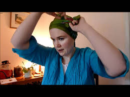 simple hair bandana for covering patch of bald head for ladies wigs and head covers tying a rectangular scarf wmv youtube