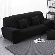 couch 3 sitzer amazon de sofabezug bielastische stretchhusse schwarz 3 sitzer
