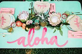 hawaiian themed wedding aloha bridal shower inspiration hawaiian themed party 100