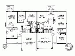 eplans ranch house plan charming duplex with two car garage