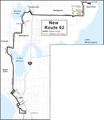 Metro Route Map by Route Revisions Service Change Information King County Metro