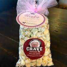 popcorn party favors personalized u2014 crave popcorn co