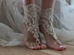 wedding barefoot sandals chagne wedding barefoot sandals acessórios