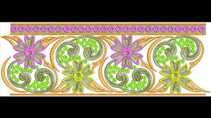 Sep 2014 Bulk Download 100 Lace Border Embroidery Designs Youtube