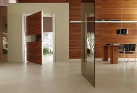 dark brown wooden interior door design for homes with glass detail