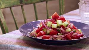 cucumber tomato u0026 onion salad food network