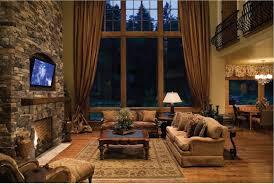 rustic modern living room design grey shade pendant lighting with