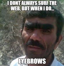 I Dont Always Meme - i dont always surf the web but when i do eyebrows meme