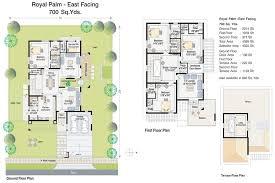 South Facing House Floor Plans Villas And Floor Plans Palm Meadows Villas In Kompally Hyderabad