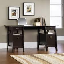 Wooden Office Desk by Furniture Executive Trestle Desk Sauder And Sauder Desks On