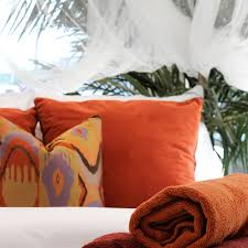 decorative pillows and bed runners tropical bed and bath