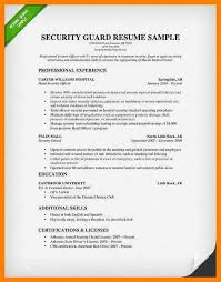 10 security guard resume writing a memo