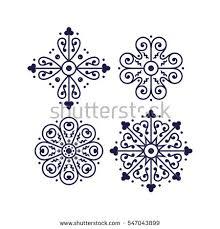 italian traditional ornament mediterranean decor stock