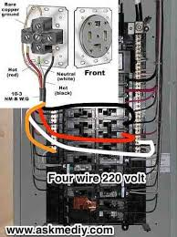 how to replace a l cord how to install a 220 volt 4 wire outlet outlets electrical wiring