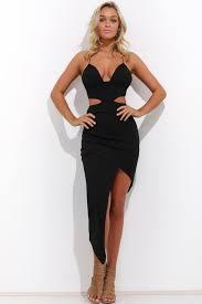 black cut out dress cut out asymmetrical dress closet couture