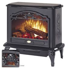 Amish Electric Fireplace Dimplex Celeste Freestanding Electric Stove In Black Tds8515tb