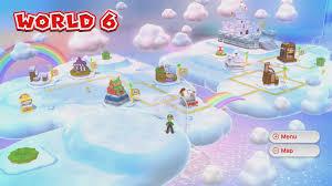 Super Mario World Level Maps by World 6 U2013 Super Mario 3d World Hidden Luigis Guide U2013 Mario Party