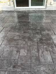 Textured Concrete Patio by Stamped And Stained Concrete Patio In Flagstone Pinterest