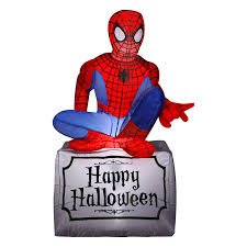 gemmy airblown halloween spider man inflatable hayneedle