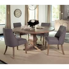 Pedestal Tables And Chairs 5 Pcs Florence Round Pedestal Table And Beige Upholstered Chair Set