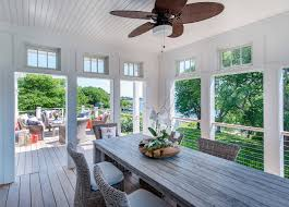 Beadboard Porch Ceiling by Four Seasons Sunroom Screened In Porch With Outdoor Dining Area