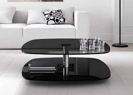 Coffee Tables Black Glass Furniture Two Tier Black Glass Modern Contemporary Coffee Tables